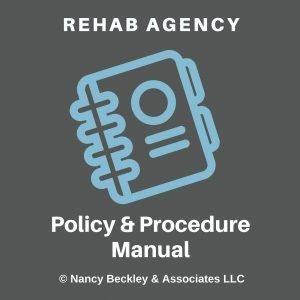 Rehab Agency Policy Manual Cd 2 300x300